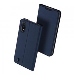 Dux Ducis чехол книжка для Samsung Galaxy A01 с магнитом и отделением для карты - Синий