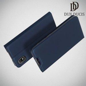 Dux Ducis чехол книжка для Samsung Galaxy A10 с магнитом и отделением для карты - Синий