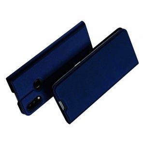 Dux Ducis чехол книжка для Samsung Galaxy A10s с магнитом и отделением для карты - Синий