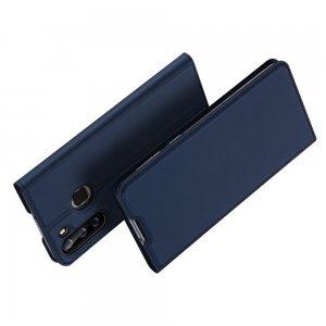 Dux Ducis чехол книжка для Samsung Galaxy A21 с магнитом и отделением для карты - Синий