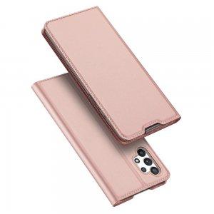 Dux Ducis чехол книжка для Samsung Galaxy A32 с магнитом и отделением для карты - Светло Розовый