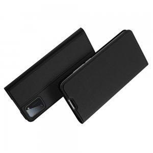 Dux Ducis чехол книжка для Samsung Galaxy A41 с магнитом и отделением для карты - Черный