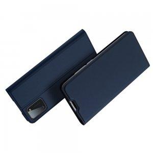 Dux Ducis чехол книжка для Samsung Galaxy A41 с магнитом и отделением для карты - Синий