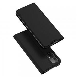 Dux Ducis чехол книжка для Samsung Galaxy A52 с магнитом и отделением для карты - Черный