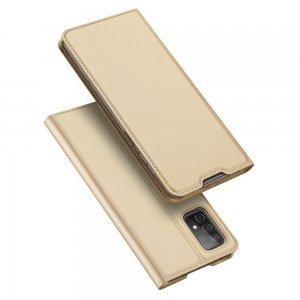 Dux Ducis чехол книжка для Samsung Galaxy A52 с магнитом и отделением для карты - Золотой