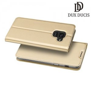 Dux Ducis чехол книжка для Samsung Galaxy A6 2018 SM-A600F с магнитом и отделением для карты - Золотой