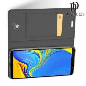 Dux Ducis чехол книжка для Samsung Galaxy A7 2018 SM-A750F с магнитом и отделением для карты - Серый