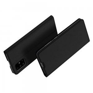 Dux Ducis чехол книжка для Samsung Galaxy A71 с магнитом и отделением для карты - Черный
