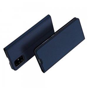 Dux Ducis чехол книжка для Samsung Galaxy A71 с магнитом и отделением для карты - Синий