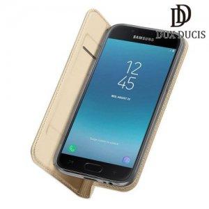 Dux Ducis чехол книжка для Samsung Galaxy J4 2018 SM-J400F с магнитом и отделением для карты - Золотой