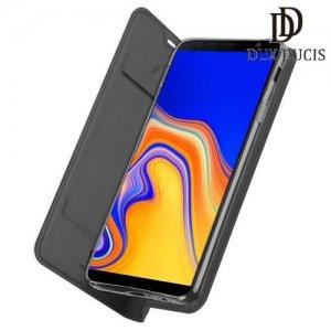 Dux Ducis чехол книжка для Samsung Galaxy J4 Plus с магнитом и отделением для карты - Черный