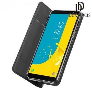 Dux Ducis чехол книжка для Samsung Galaxy J6 2018 SM-J600F с магнитом и отделением для карты - Серый
