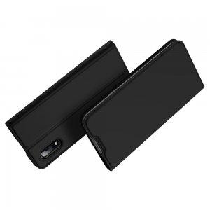 Dux Ducis чехол книжка для Samsung Galaxy M01 с магнитом и отделением для карты - Черный