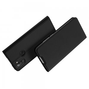 Dux Ducis чехол книжка для Samsung Galaxy M11 с магнитом и отделением для карты - Черный