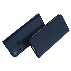 Dux Ducis чехол книжка для Samsung Galaxy M11 с магнитом и отделением для карты - Синий