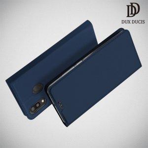 Dux Ducis чехол книжка для Samsung Galaxy M20 с магнитом и отделением для карты - Синий