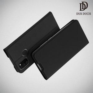 Dux Ducis чехол книжка для Samsung Galaxy M30s с магнитом и отделением для карты - Черный