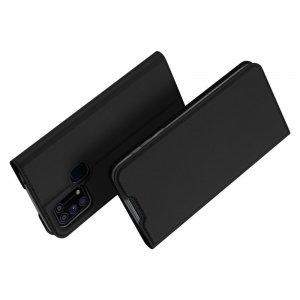 Dux Ducis чехол книжка для Samsung Galaxy M31 с магнитом и отделением для карты - Черный