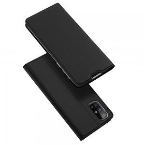 Dux Ducis чехол книжка для Samsung Galaxy M31s с магнитом и отделением для карты - Черный