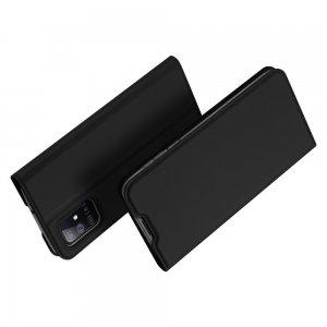 Dux Ducis чехол книжка для Samsung Galaxy M51 с магнитом и отделением для карты - Черный
