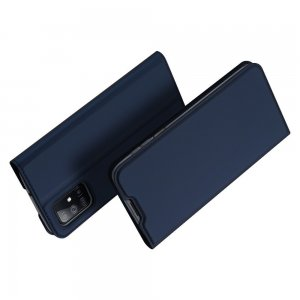 Dux Ducis чехол книжка для Samsung Galaxy M51 с магнитом и отделением для карты - Синий