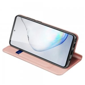 Dux Ducis чехол книжка для Samsung Galaxy Note 10 Lite  и отделением для карты - Светло-Розовый