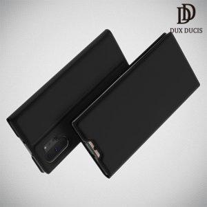 Dux Ducis чехол книжка для Samsung Galaxy Note 10 Plus с отделением для карты - Черный