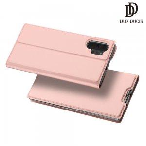 Dux Ducis чехол книжка для Samsung Galaxy Note 10+ с магнитом и отделением для карты - Розовое Золото