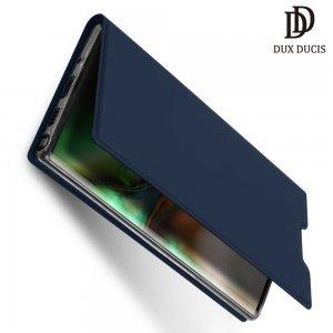Dux Ducis чехол книжка для Samsung Galaxy Note 10 Plus с магнитом и отделением для карты - Синий