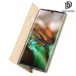 Dux Ducis чехол книжка для Samsung Galaxy Note 10+ с магнитом и отделением для карты - Золотой