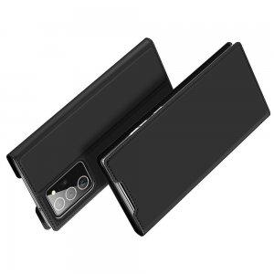 Dux Ducis чехол книжка для Samsung Galaxy Note 20 Ultra с магнитом и отделением для карты - Черный