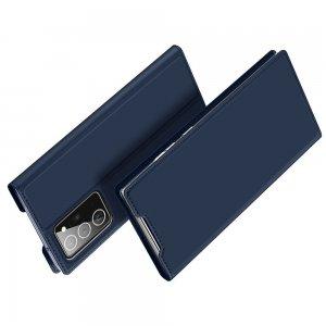 Dux Ducis чехол книжка для Samsung Galaxy Note 20 Ultra с магнитом и отделением для карты - Синий