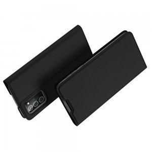 Dux Ducis чехол книжка для Samsung Galaxy Note 20 с магнитом и отделением для карты - Черный