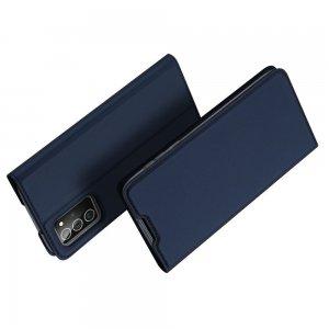 Dux Ducis чехол книжка для Samsung Galaxy Note 20 с магнитом и отделением для карты - Синий