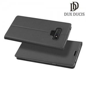 Dux Ducis чехол книжка для Samsung Galaxy Note 9 с отделением для карты - Серый