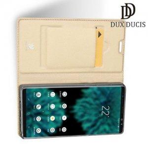 Dux Ducis чехол книжка для Samsung Galaxy Note 9 с магнитом и отделением для карты - Золотой