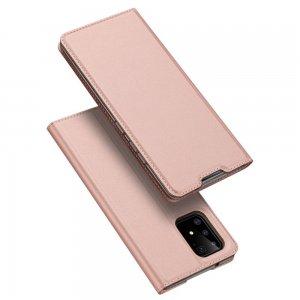 Dux Ducis чехол книжка для Samsung Galaxy S10 Lite с магнитом и отделением для карты - Светло-Розовый