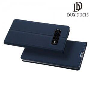 Dux Ducis чехол книжка для Samsung Galaxy S10 с магнитом и отделением для карты - Синий