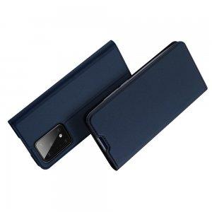 Dux Ducis чехол книжка для Samsung Galaxy S20 Plus с магнитом и отделением для карты - Синий