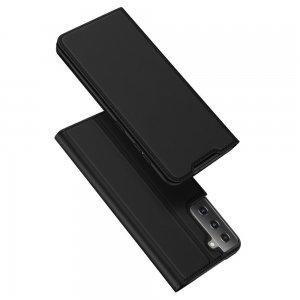 Dux Ducis чехол книжка для Samsung Galaxy S21 с магнитом и отделением для карты - Черный