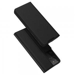 Dux Ducis чехол книжка для Samsung Galaxy S21 Ultra с магнитом и отделением для карты - Черный