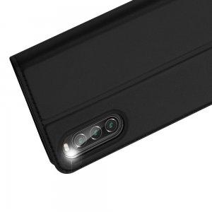 Dux Ducis чехол книжка для Sony Xperia 10 II с магнитом и отделением для карты - Черный