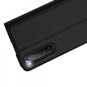 Dux Ducis чехол книжка для Sony Xperia 5 II с магнитом и отделением для карты - Черный