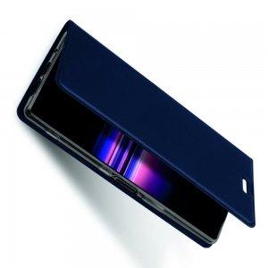 Dux Ducis чехол книжка для Sony Xperia 5 с магнитом и отделением для карты - Синий
