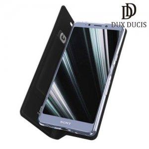 Dux Ducis чехол книжка для Sony Xperia L3 с магнитом и отделением для карты - Черный