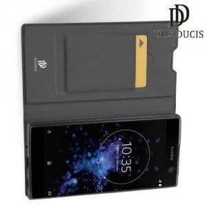 Dux Ducis чехол книжка для Sony Xperia XA2 Plus с магнитом и отделением для карты - Серый