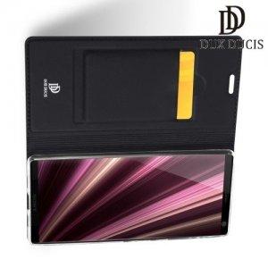 Dux Ducis чехол книжка для Sony Xperia 10 Plus с магнитом и отделением для карты - Черный