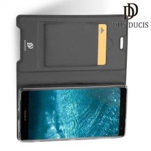 Dux Ducis чехол книжка для Sony Xperia XZ3 с магнитом и отделением для карты - Серый