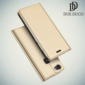 Dux Ducis чехол книжка для Vivo V7 с отделением для карты и скрытой магнитной застежкой - Золотой