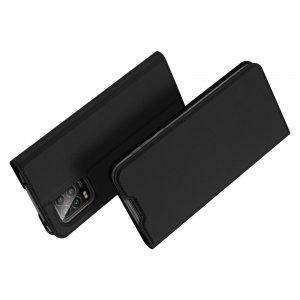 Dux Ducis чехол книжка для Xiaomi Mi 10 Lite с магнитом и отделением для карты - Черный